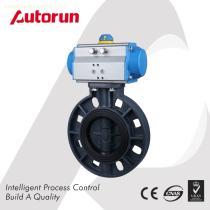 China Wenzhou PVC Plastic Butterfly Valve with Pneumatic Actuator