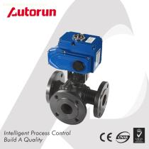China Wenzhou supplier WCB Electric three Way Sanitary Ball Valve