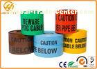 Reflective Danger Barricade Tape for Construction Site / Underground Detectable Warning