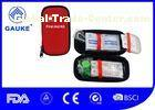Private Label Outdoor First Aid Kit EVA Hard Case With Carabiner / Key Chain