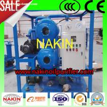 Double-stage vacuum transformer oil purifier with insulating oil filtration
