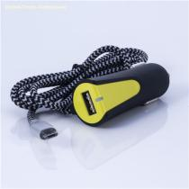 ABS USB Car Charger with DC Cable 5V 3.4A
