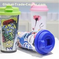 Sublimation Printing Eco-Tumbler With Color Silicone Lid Polymer Water Cup