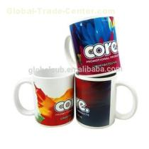 White Matte High Procelain Coffee Mug Printed For Promotional Gift