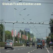 Traffic Signal CCTV Camera Monitor Galvanized Steel Pole