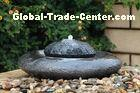 Natural Flamed Granite Sphere Fountain , Outdoor Sphere Water Fountains For Backyards