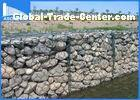 Iron Wire Gabion Mesh Cages For Rock Retaining Walls , Gabion Stone Baskets
