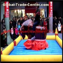 Amusement Park Commercial Kids Inflatable Rodeo Bull Machine Rides In Europe