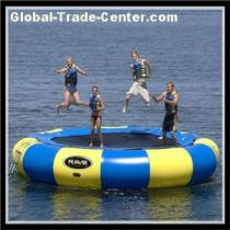 Super Fun Games Inflatable Water Bouncy Trampoline With Spring Structure