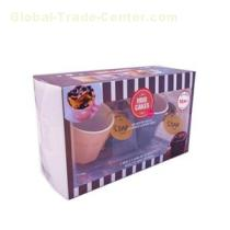 Full Color Printing Clear PVC Plastic Box Packaging For Mug