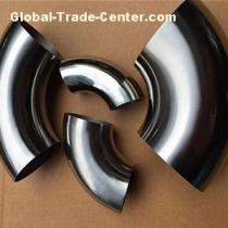Titanium Exhaust Bendings Titanium Exhaust Elbows ASTM B363 GR1GR2GR7GR12 Polished Surface Seamless or Welding Thin Wall Thickness for Exhaust System