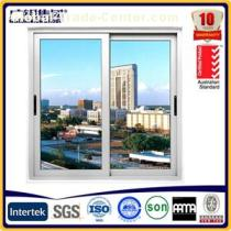 Economical 2 Tracks Aluminium Alloy Sliding Window With Single Glass And Fly Screen For Apartment And Hotel