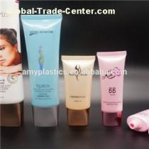 Square Flat-top Cover With Oval Plastic Tube For Cosmetic Packaging