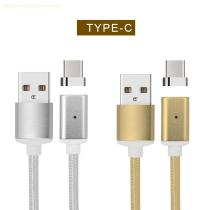 Newest fast charging magnetic cable android micro usb to type c nylon braided cable for sale