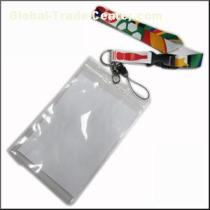Big PVC ID Card Holder Polyester Lanyard Production From Zhanhong