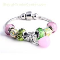 Stretch Multi Colored Gemstone Beaded Women's Bracelets With Charms