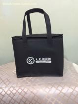 Custom Budget Non Woven Cooler Tote Bags - Cubic Shaped