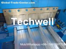 Welding Wall Plate Machine Frame Structural Metal Deck Forming Machine With Chain Transmission