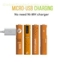 Best AAA Rechargeable Batteries 4 Pieces In Box 450mah NiMH AAA Battery Rechargeable With Micro USB Port