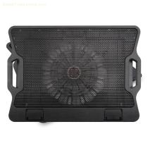 "15"" Laptop Cooling Pad with Movable Fan, USB 2.0 dual ports Hub and 6 Ergonomic Height Setting"