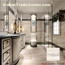 White Marble Grain Vein Look Inkjet Modern Wall