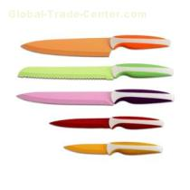Kitchen Knife Set With Non-stick Color Coating Blades