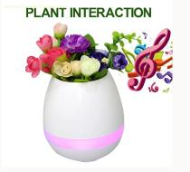 smart Bluetooth speaker with flower pot