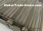 Metal Mesh Spiral Conveyor Belt For Roasting Food Stuff Alkali - Resisting