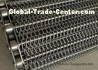 Stainless Steel Chain Mesh Conveyor Belt Lifting G80 Argon Welding Simple Design