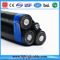 24KV 3*95sqmm Aluminum Conductor XLPE Insulation Aluminum Wire Screen PE Outer Sheath Cable