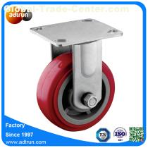 5 x 2 inch Roller Bearing PU Wheel Heavy Duty Industrial Caster