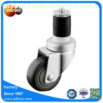 M12 Expandable Stem Medium Duty Swivel Rubber Ball Bearing Wheel Caster