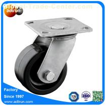 Solid Rubber Wheel Roller Bearing Heavy Duty Swivel Caster