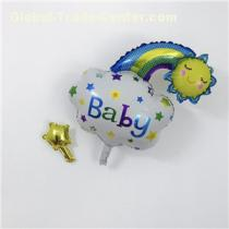 Cheap White Mini Foil Balloon For Baby