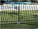 2 Rails Black Steel Fence Black Tubular Fencing With ISO9001 Certificate