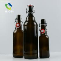 Glass beer bottle/33cl/50cl/100cl amber beer bottle