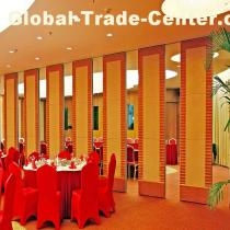 Sliding Aluminium Frame Restaurant Folding Operable Partition Wall