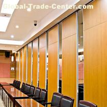 Office Commercial Furniture Folding Aluminium Frame Conference Room Operable Partition Wall