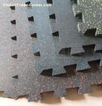 Interlocking Speckled Rubber Tile