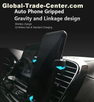 new wireless fast charger car holder Auto Phone Grippe