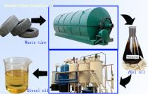 Recycling waste plastic pyrolysis plant oil to diesel oil