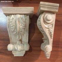 Factory Supplier Rubber Antique Wood Carving Corbels