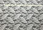 Off White Leaf Shape Nylon Lace Fabric Durable Washable For Garment Apparel