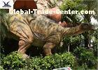 Waterproof Life Size Outdoor Dinosaur Statues For Theme Park / 6 Meters