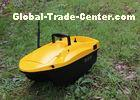 Yellow shuttle bait boat , DEVICT bait boat remote control style radio control