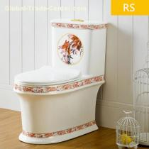 Chaozhou ceramic toilet back to wall color one piece toilet