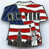 NEW YORK T shirt Metal Magnet