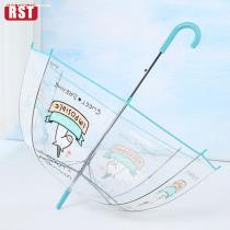 RST wholesale high quality automatic Lovely Unicorn clear transparent rain umbrellas