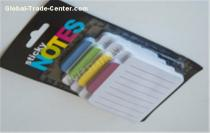 Special design Blister card/ elastic sticky note with four colors