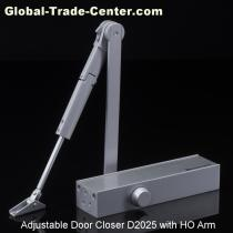 European Style Size Adjustable Door Closer with Hold Open Arm